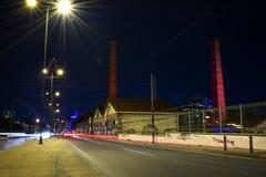 Vue urbaine de nuit Image stock