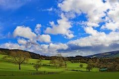 Vue utopique rurale de Bamford, dans Derbyshire images stock