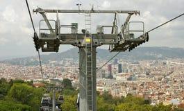 Vue vers Barcelone Photographie stock libre de droits