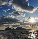 Vue vers l'île de Capri photo libre de droits