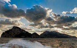 Vue vers l'île de Capri image libre de droits