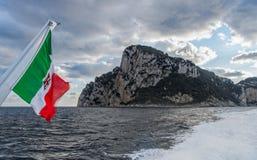 Vue vers l'île de Capri photographie stock