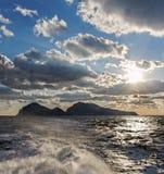 Vue vers l'île de Capri photos stock