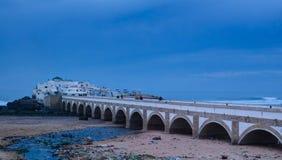 Vue vers l'île Marabout de Sidi Abderrahmane à Casablanca, Maroc photo libre de droits