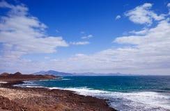 Vue vers Lanzarote Images stock