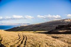 Vue vers le lac Kol de chanson Image libre de droits