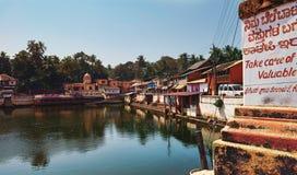 Vue vers le lac sacré Kotiteerkha dans Gorarna Photos stock