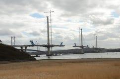 Vue vers le nouveau pont Photo stock