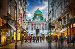Vue vers le palais impérial de Hofburg à Vienne, Autriche image libre de droits