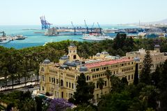 Vue vers Malaga Photo stock