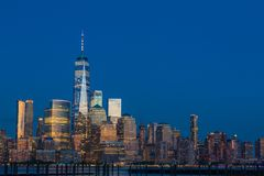 Vue vers Manhattan de New Jersey Image libre de droits
