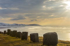 Vue vers Olafsvik sur la péninsule de Snæfellsnes images stock
