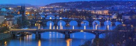 Vue vers Prague du centre Images stock