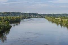 Vue vers une rivière Images libres de droits