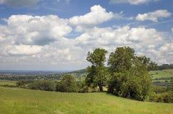 Vue vers Winchcombe photographie stock