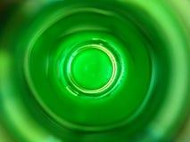 Vue verte de bouteille à l'intérieur Photo libre de droits