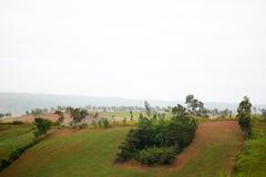 Vue verte de montagne Photos libres de droits