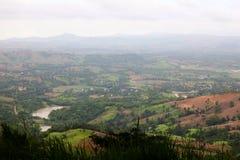 Vue verte de montagne Images stock