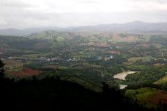 Vue verte de montagne Photo stock