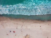 Vue verticale de plage aérienne photo libre de droits