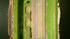 Vue verticale des voies de train Photo stock