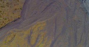 Vue volcanique surréaliste de la terre banque de vidéos
