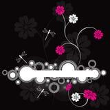 Vue W florale et libellule Photos libres de droits