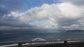 vue Wellington de mer de beau temps Photographie stock libre de droits