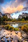 Vue Yosemite de vallée photos libres de droits