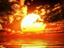 Vue zonsondergang royalty-vrije stock afbeelding
