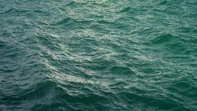 Vuele sobre superficie verde del océano en la cámara lenta, loopable metrajes