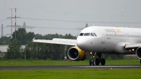 Vueling Airbus 320 landing stock footage