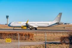 Vueling Airbus A321 no aeroporto de Copenhaga Fotografia de Stock