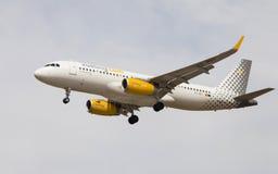 Vueling Airlines flygbuss A320 Fotografering för Bildbyråer