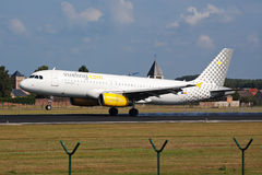 Vueling airplane landing Royalty Free Stock Image