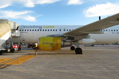 Vueling airplane Royalty Free Stock Images