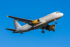 Vueling plane close-up Stock Photography