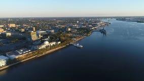 Vuelo aéreo Camden New Jersey Waterfront metrajes