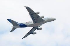 Vuelo A380 de la demostración Imagen de archivo libre de regalías