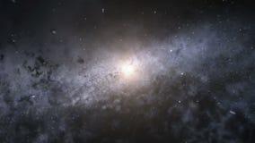 Vuelo al centro de la galaxia stock de ilustración