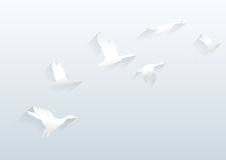 Vuelo blanco del vector del fondo alto Fotografía de archivo libre de regalías