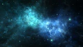 Vuelo colocado a través de la nebulosa del espacio profundo ilustración del vector