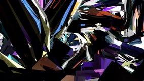 Vuelo con la nueva animación de los gráficos del movimiento de la calidad del centelleo 3d de la interferencia TV de la sinapsis  ilustración del vector