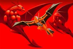 Vuelo con los dragones Foto de archivo
