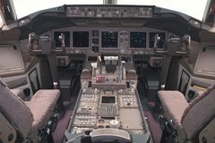 Vuelo-cubierta de los aviones Fotografía de archivo