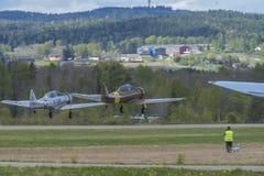 Vuelo día 11 de mayo de 2014 en Kjeller (airshow) Foto de archivo libre de regalías