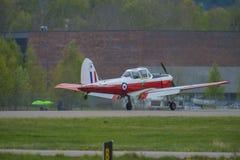 Vuelo día 11 de mayo de 2014 en Kjeller (airshow) Imagen de archivo libre de regalías