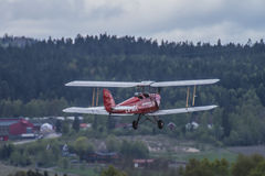 Vuelo día 11 de mayo de 2014 en Kjeller (airshow) Fotos de archivo libres de regalías