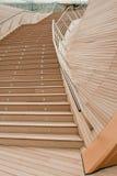 Vuelo de escaleras de madera Imagen de archivo libre de regalías