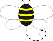 Vuelo de la abeja en el aire libre illustration